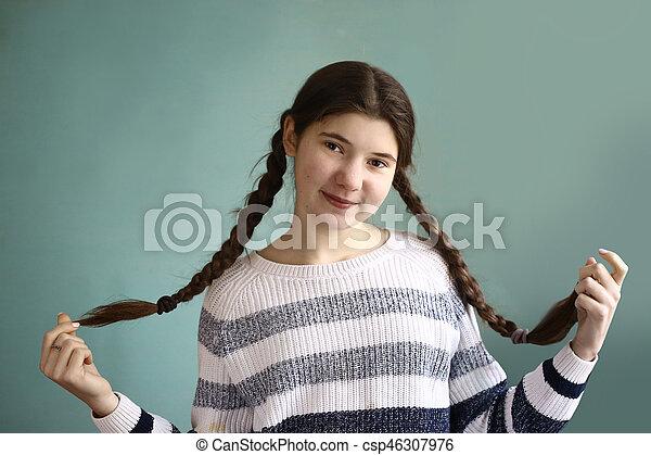 håret teen pige
