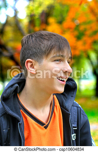 teenager in the park - csp10604834