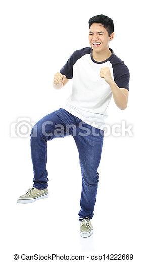 Teenager Rejoicing  - csp14222669
