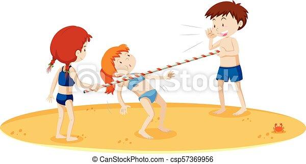 teenagers doing limbo dance at the beach illustration rh canstockphoto com People Doing the Limbo Limbo Dance