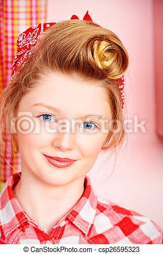 teengirl, retro - csp26595323