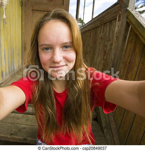 Teen selfie Russian teen
