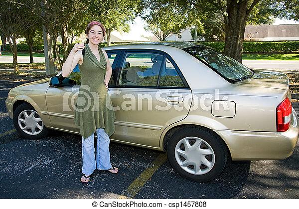 Teen girl first car — 2