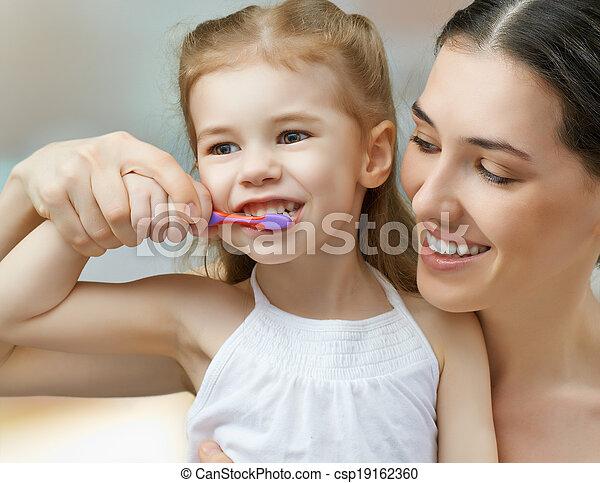 teeth brushing - csp19162360