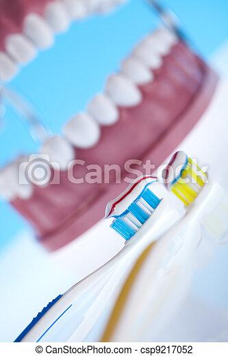 Teeth, Dental health care objects - csp9217052