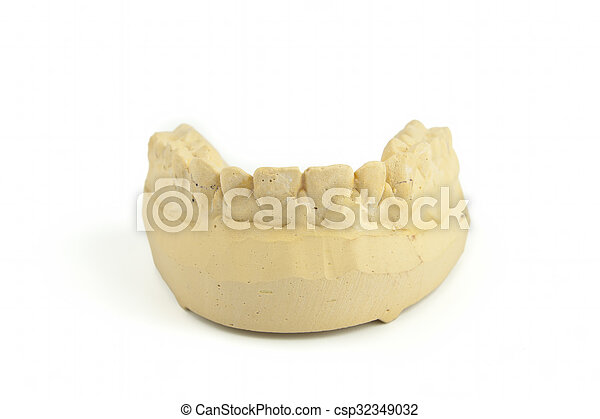 Teeth gypsum model - csp32349032