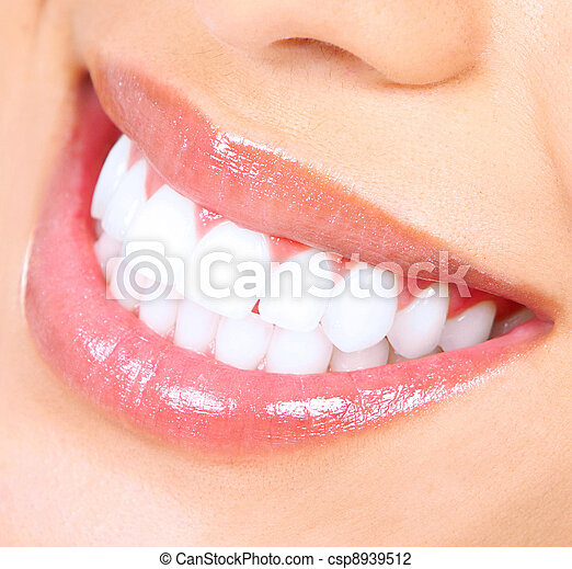 Teeth whitening. Woman smile. - csp8939512