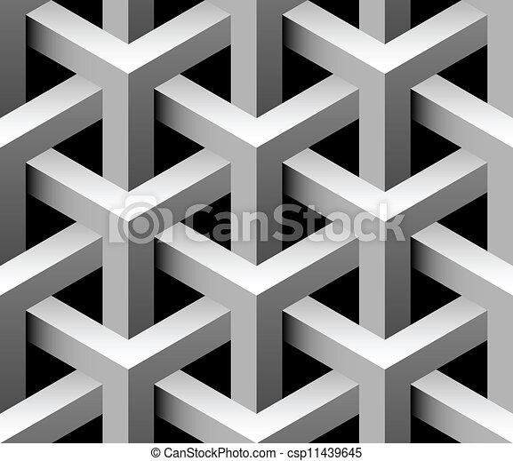 tegel, industriebedrijven, vector, seamless, 3d - csp11439645