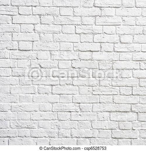 tegelsten, vita vägg - csp6528753
