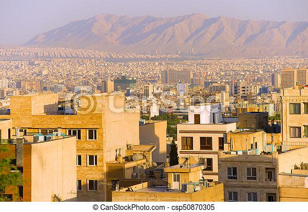 Tehran residential buildings, skyline. Iran - csp50870305