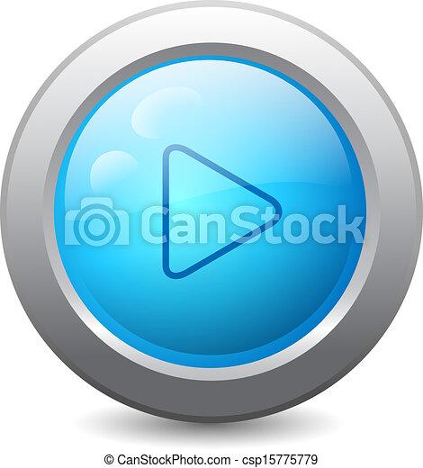 teia, botão, jogo, ícone - csp15775779