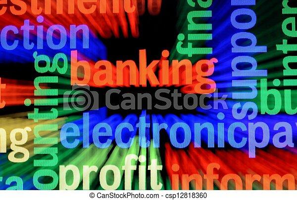 teia, operação bancária - csp12818360