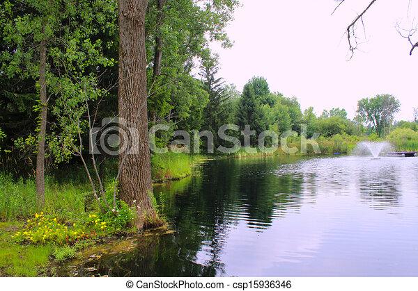 Pond Springbrunnen - csp15936346