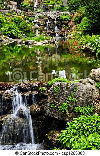 Wasserfall und Teich - csp1265003