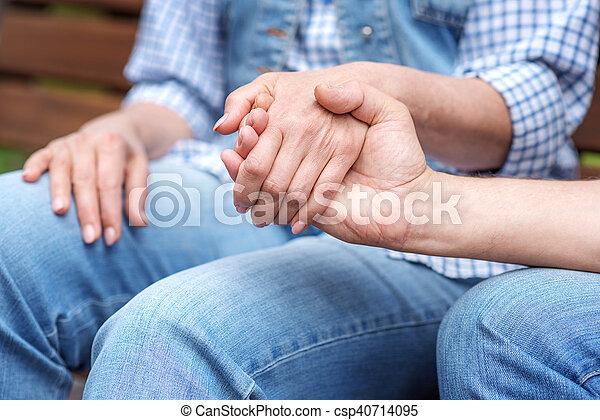Ehepaar teilen Frau