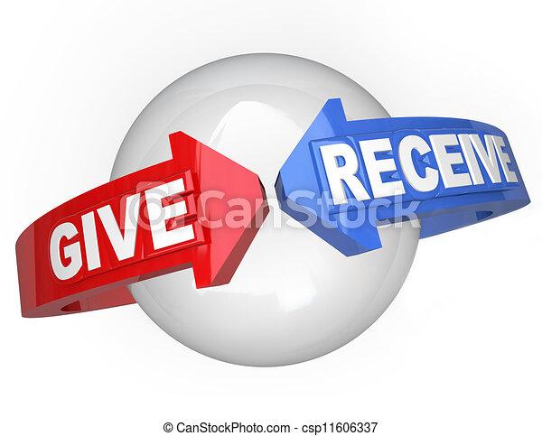 Geben und erhalten geteilte Unterstützung, um anderen zu helfen - csp11606337