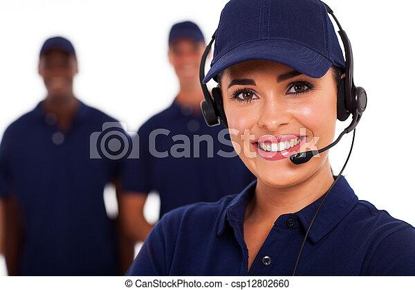 teknisk, operatör, stöd, option att köpa centrera - csp12802660