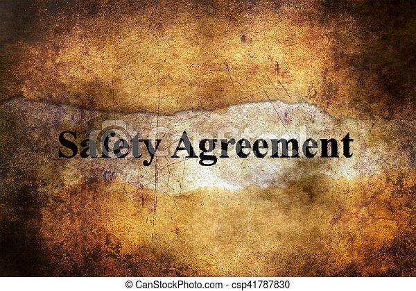 tekst, bezpieczeństwo, grunge, porozumienie, tło - csp41787830