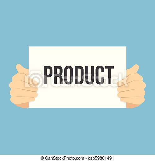 tekst, het tonen, papier product, man - csp59801491
