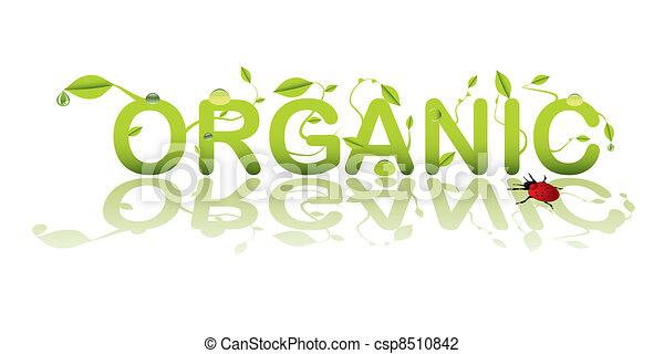 tekst, organisch - csp8510842