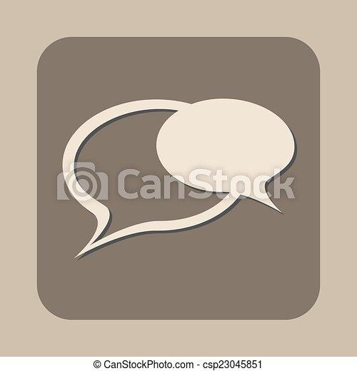tekstballonetje, pictogram - csp23045851