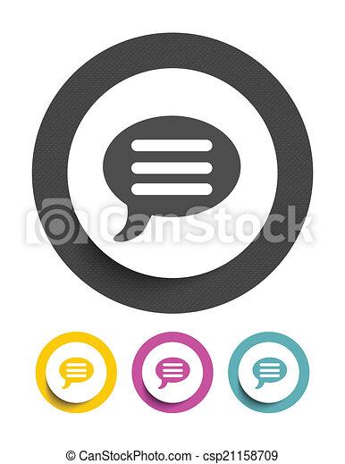 tekstballonetje, pictogram - csp21158709