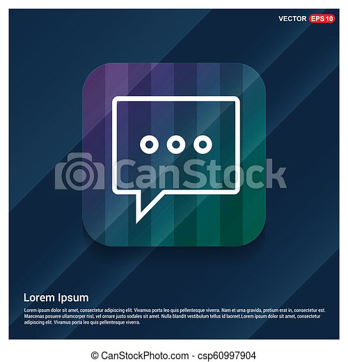 tekstballonetje, pictogram - csp60997904