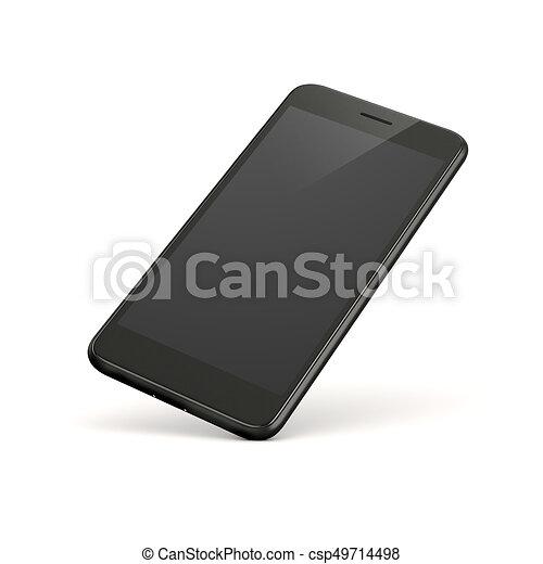 Teléfono inteligente en 3D en antecedentes blancos - csp49714498
