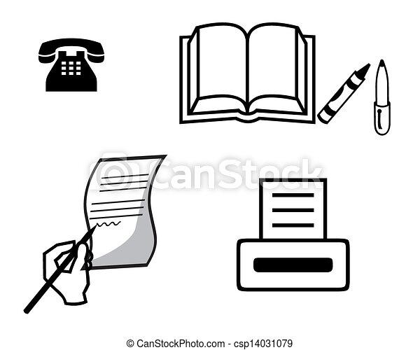 Cuaderno de libreta de impresora - csp14031079