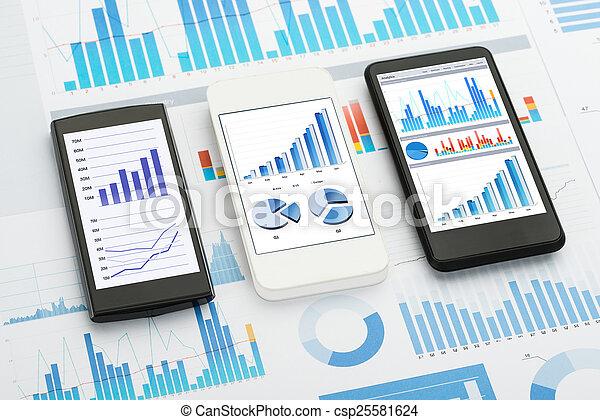 Análisis de teléfono móvil - csp25581624
