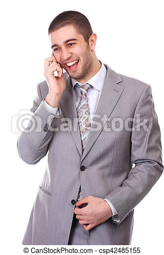 Hombre con teléfono móvil - csp42485155