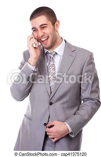 Hombre con teléfono móvil - csp41375120