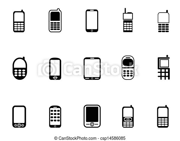 iconos de teléfono móvil - csp14586085
