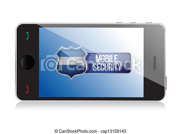 Teléfono inteligente con escudo de seguridad móvil - csp13159143