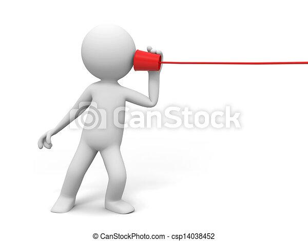 Teléfono, comunicación - csp14038452