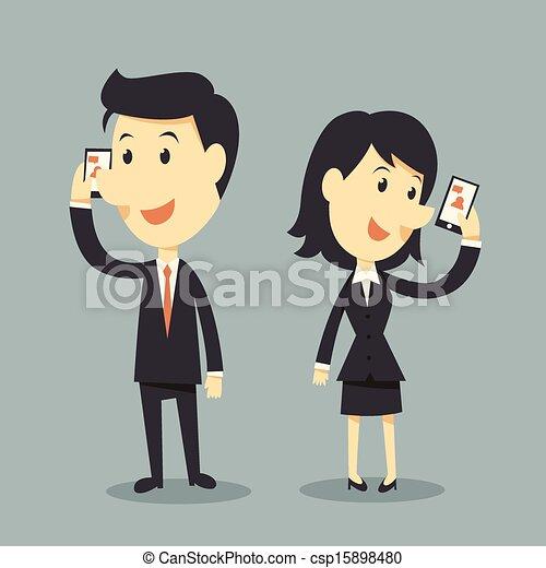 Los teléfonos inteligentes - csp15898480