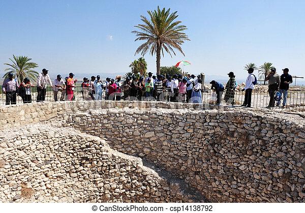 Tel Megiddo - Israel - csp14138792
