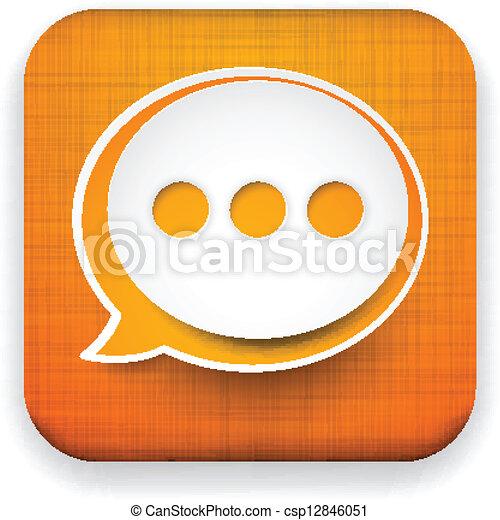 Un icono del lenguaje en Internet. - csp12846051