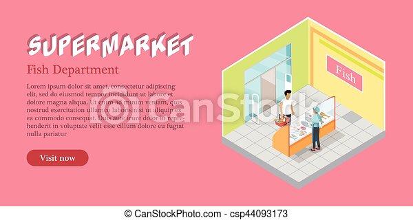 0daa70521bd2 Tela, banner., fsh, supermercado, vector, departamento. Tela, vector ...