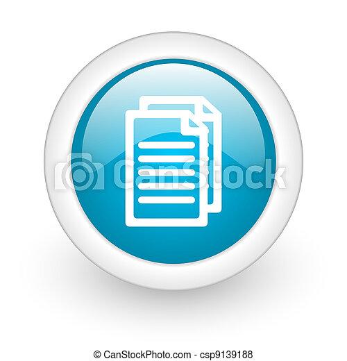 El botón de la red de documentos - csp9139188