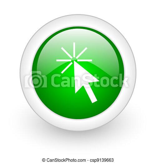 Clic aquí botón de telaraña - csp9139663
