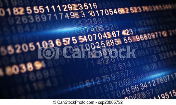 tela, código, foco, seletivo, digital - csp28865732