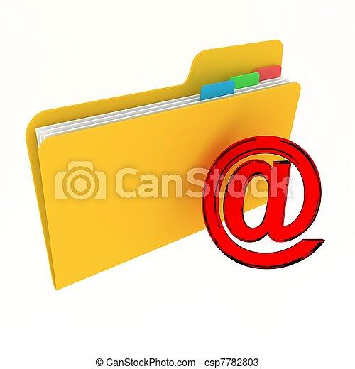 Una carpeta Web - csp7782803