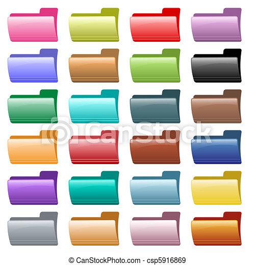 Los iconos de la carpeta Web tienen diferentes colores - csp5916869