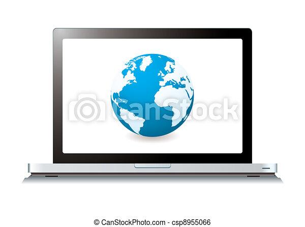 La laptop del mundo Web - csp8955066