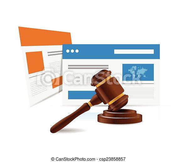 El concepto de derecho legal online. - csp23858857