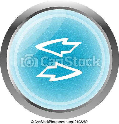 El ícono de la web de Button con flechas aisladas en blanco - csp19193282