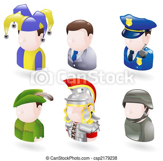 La gente Avatar es un icono web - csp2179238