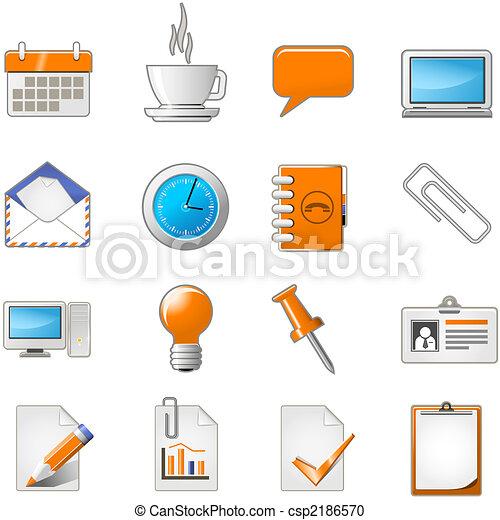 Página web o juego de iconos de oficina - csp2186570