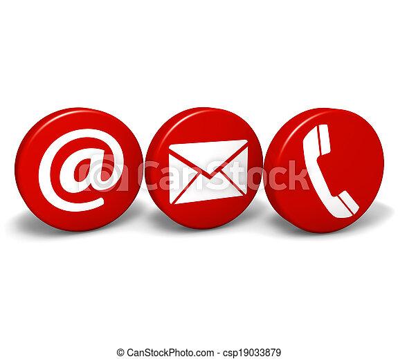 Web contacta con nosotros iconos - csp19033879